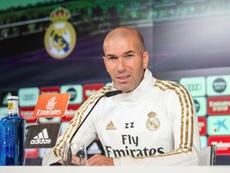 Zidane desgranó la actualidad del Madrid antes de la visita a Mestalla. EFE