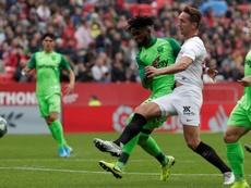 Los peñistas del Leganés denunciaron amenazas de los aficionados del Sevilla. efe
