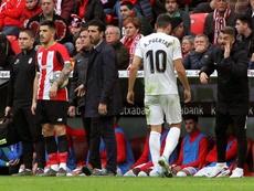 Yuri se quedó con los puntos por encima del gol. EFE/Miguel Toña