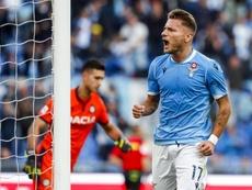 Immobile lleva a la Lazio a soñar. ERFE/Angelo Carconi