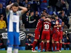 El cortocircuito del Espanyol y la sonrisa de Osasuna. EFE