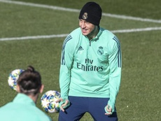 Eden Hazard espera llegar al derbi madrileño. EFE