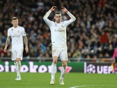 Bale apresenta um edema no bíceps femoral da perna esquerda. EFE/ Rodrigo Jiménez/Archivo