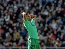 Rodrygo fue titular ante el Espanyol. EFE
