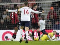 El Liverpool ganó con comodidad en Bournemouth. EFE/EPA