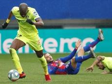 Nyom solo piensa en los tres puntos en juego ante el Granada. EFE