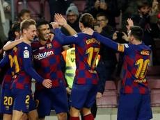 La situation du Barça avant le Clásico. EFE
