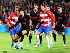 Darío Poveda (tercero por la izquierda) saldrá traspasado al Getafe. EFE