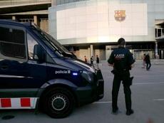 Un dron sobrevoló el Barça-Mallorca. EFE/Archivo