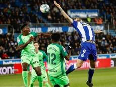 El Alavés empató en el tramo final ante el Leganés. EFE