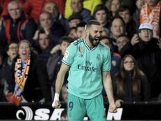 El Madrid rescató un punto inesperado en Mestalla. EFE