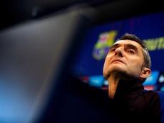 Ernesto Valverde falou sobre as possíveis saídas de Vidal e Aleñá. EFE/Enric Fontcuberta