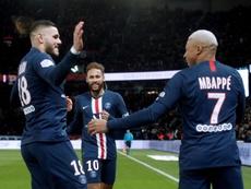 PSG vence com gols de Mbappé, Neymar e Icardi. EFE/EPA/YOAN VALAT