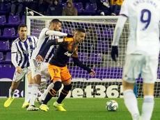 El Valencia empató en Valladolid en el último minuto. EFE