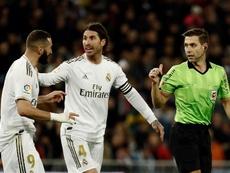 Ramos, Benzema et Jovic, prêts pour Séville. EFE
