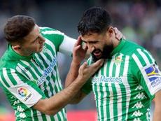 Fekir, contento en el Betis. EFE