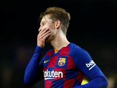 De Jong quer a Champions. EFE/ Enric Fontcuberta