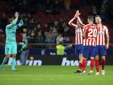 Atlético vence o Levante em casa graças a Oblak que salvou o time no final. EFE/David Fernández