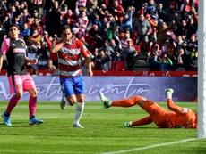 Montoro marcó ante el Mallorca y se marchó lesionado. EFE