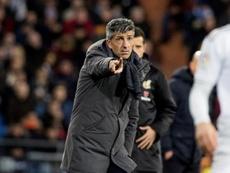 Imanol analizó a la SD Huesca. EFE