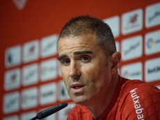 Garitano thrilled to see Basque derby Copa del Rey final. EFE