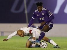 Salisu, perto de abandonar o Real Valladolid. EFE/Jorge Zapata