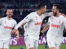 La Juve ganó en Roma. EFE