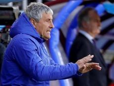 Setién no se perdió el partido del filial. EFE/Juan Herrero