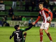 Dani García sigue defendiendo su inocencia en el penalti ante el Madrid. EFE