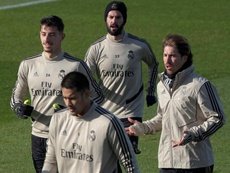 Sergio Ramos is desperate to play against Sevilla. EFE
