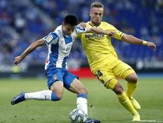 Wu Lei podría verse obligado a quedarse con el Espanyol por el coronavirus. EFE/Andreu Dalmau
