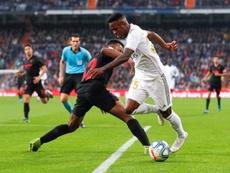 Vicinius fez um bom jogo contra o Sevilla. EFE/Emilio Naranjo