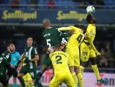 El Espanyol se quejó del arbitraje ante el Villarreal. EFE/Domenech Castelló