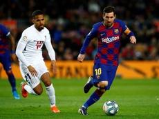 O Barça superou os mil passes contra o Granada. EFE