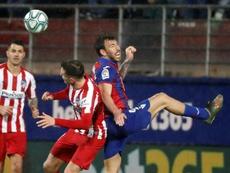 El Atlético cayó en Ipurua pese a manejar el esférico. EFE