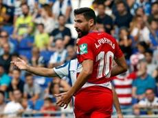 Antonio Puertas jugó ante el Madrid. EFE