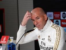 Zidane était en conférence de presse. EFE