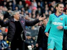 Os eternos problemas do Barça. EFE/Juan Carlos Cárdenas