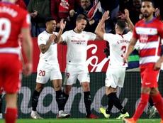 El Sevilla fue superior y venció al Granada. EFE