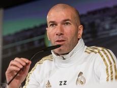 Zidane projetou a partida contra o Zaragoza. EFE