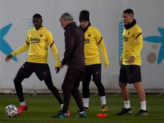 El United vuelve a pensar en Dembélé ahora que se aleja la opción de Jadon Sancho. EFE