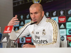 La conférence de presse de Zidane. EFE