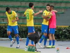 Brasil derrota o Paraguai de virada. EFE/Ernesto Guzmán Jr.