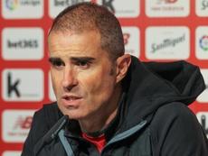 Garitano se mostró optimista antes del choque ante el Alavés. EFE