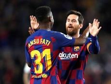 Samuel Eto'o nombró a Ansu Fati sucesor de Leo Messi. EFE