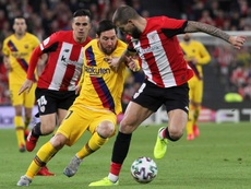 Messi and Barca were knocked out of the Copa del Rey in late drama at San Mames. EFE