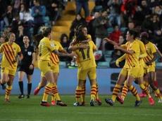 El Barcelona se llevó la segunda semifinal frente al Atlético. EFE