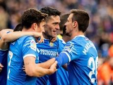 Jorge Molina, Mata y Ángel volvieron a ser protagonistas frente al Valencia. EFE