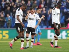Día libre para el Valencia después de caer en Liga. EFE
