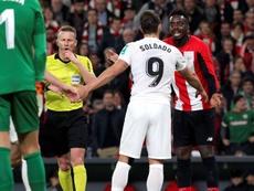 El Athletic se sintió perjudicado y lo manifestó también en su web. EFE